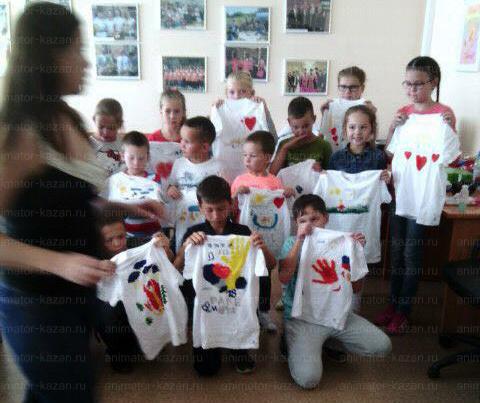 Отзыв о мастер классе роспись футболок от animator-kazan.ru