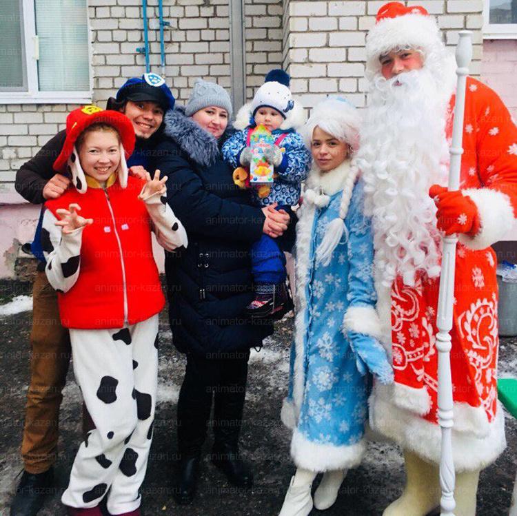 Отзыв о новогоднем празднике двора от animator-kazan.ru