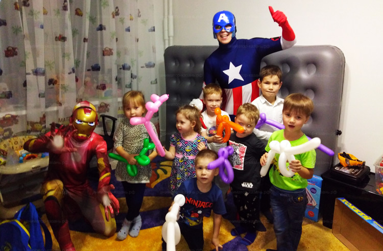 Отзыв о Железном Человеке и Капитане Америке от animator-kazan.ru
