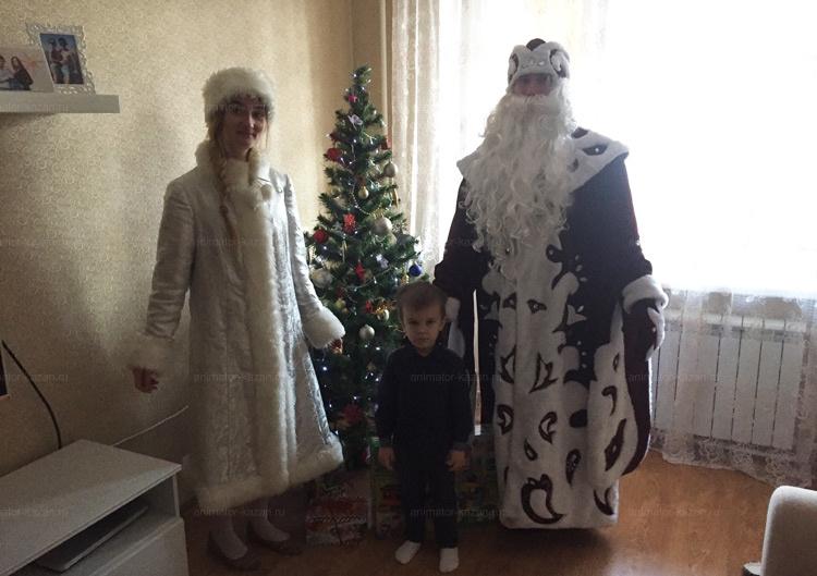 <Боярский дед мороз и снегурочка от animator-kazan.ru